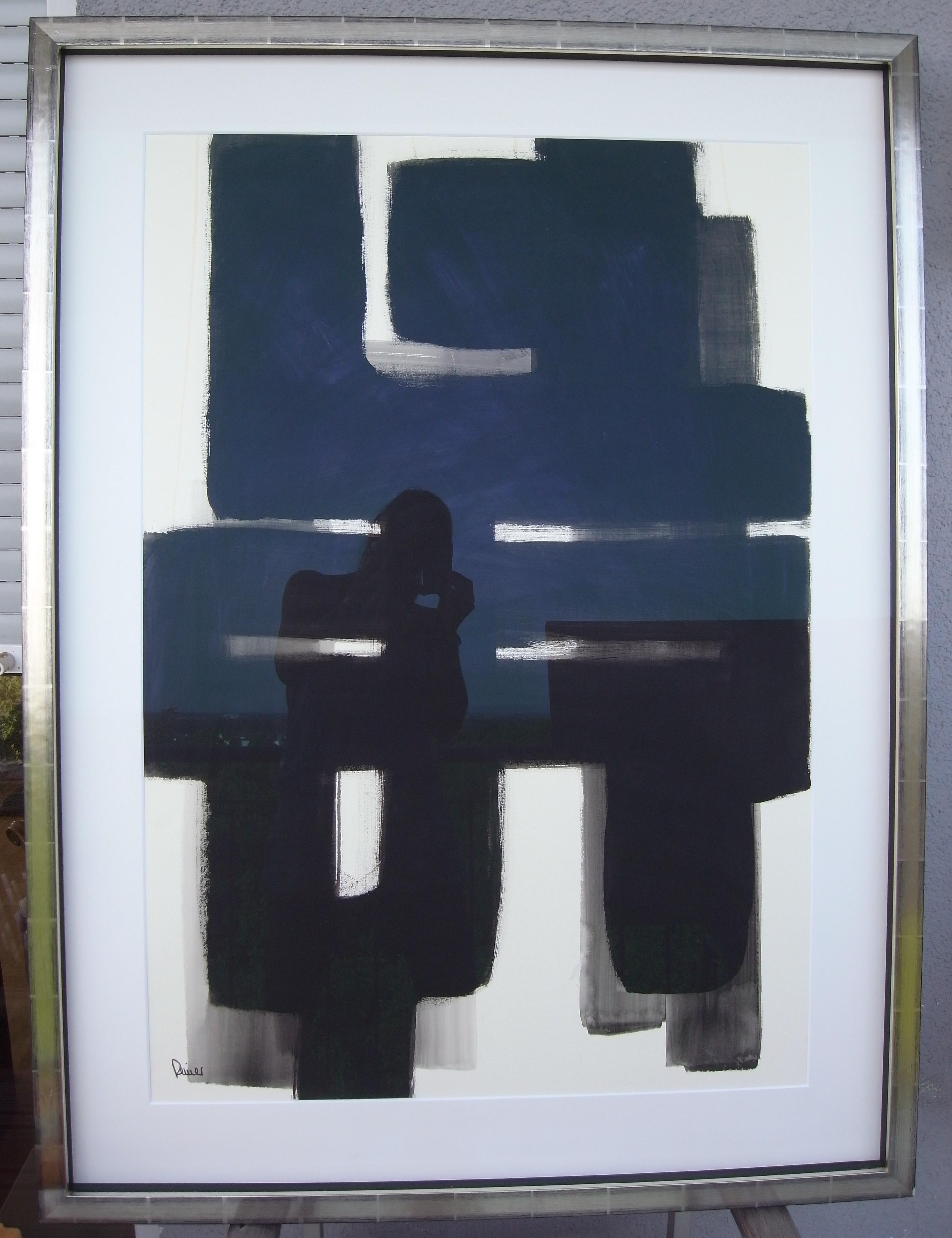 schwarz weiß. 90x122. acryl. verkauft.