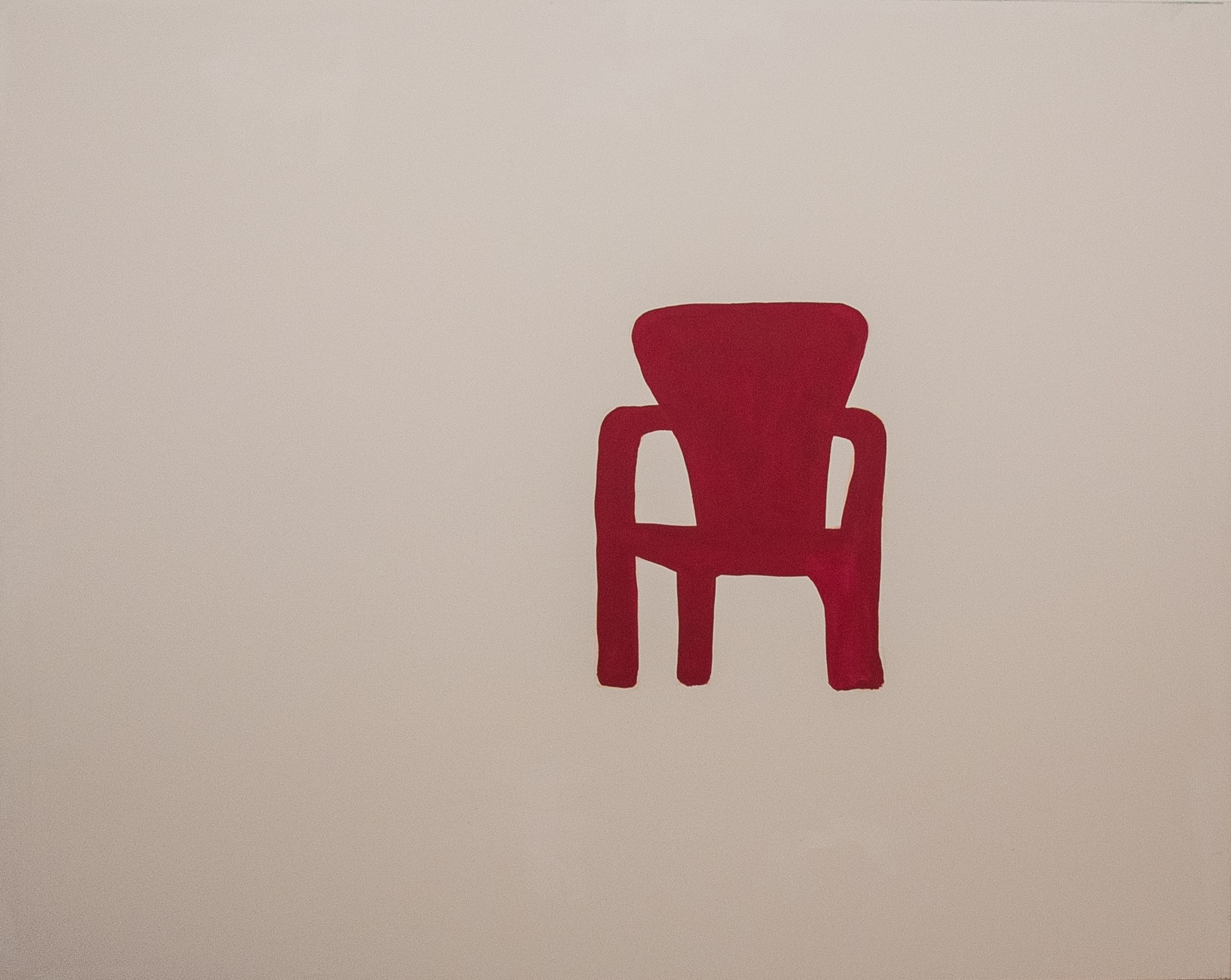 red chair. 120x150. acrylic. FOR SALE